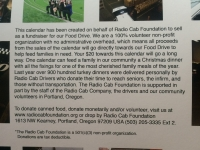 Radio Cab Foundation 2015 Calendar Description
